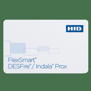 HID Desfire Prox plastic card