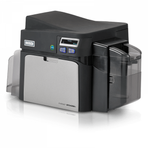 HID Fargo DTC4250e Plastic ID Card Printer side view