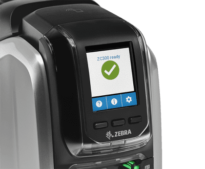 Touch Screen Interface of the Zebra ZC300 Card Printer