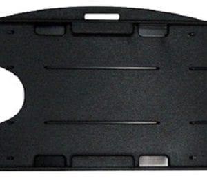 IPA-CSDBLKR – Dual Sided Black Rigid ID Card Holder – (100 per pack)