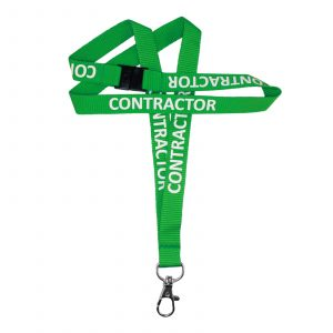 IPA-L15WWGRE1DHCO: Green 'Contractor' Lanyard (100 per pack)
