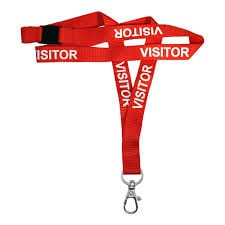IPA-L15WRED1DHVI – Red Visitor Lanyards (pack of 100)